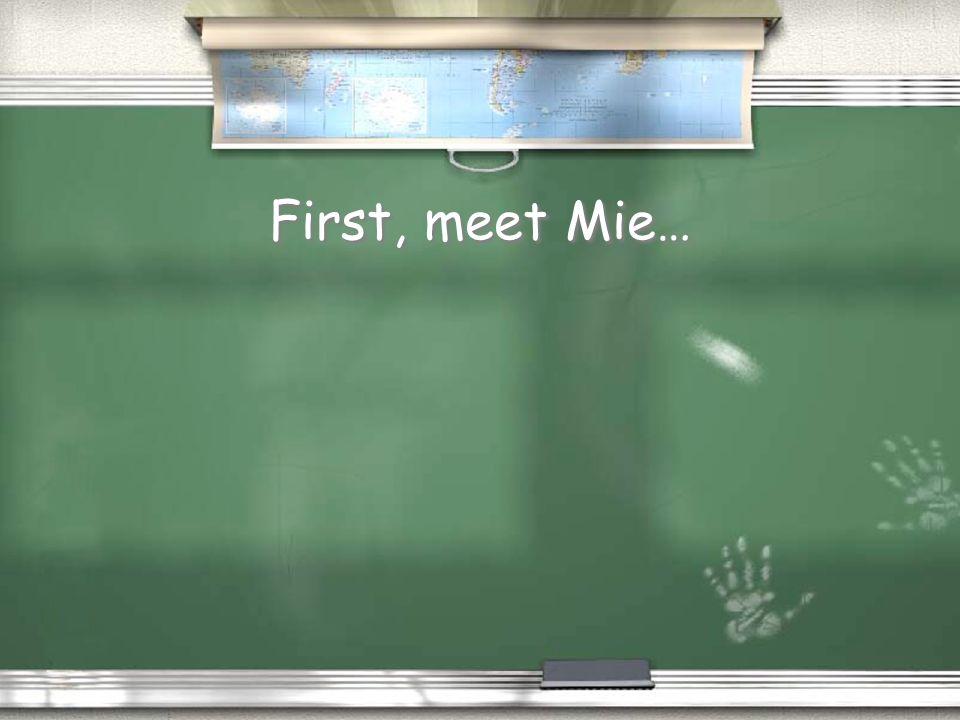 First, meet Mie…