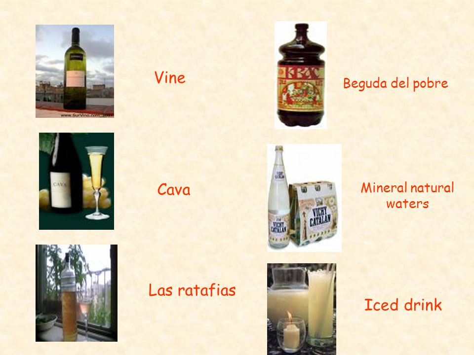 Vine Cava Las ratafias Beguda del pobre Mineral natural waters Iced drink