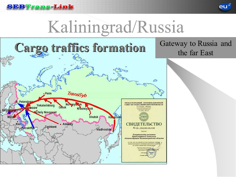 Kaliningrad/Russia Gateway to Russia and the far East
