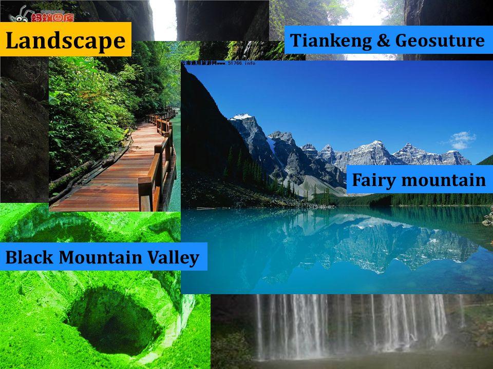 Landscape Tiankeng & Geosuture Fairy mountain Black Mountain Valley