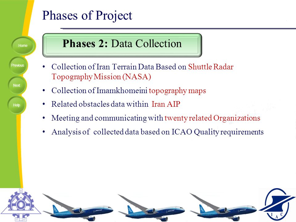 Home Previous Next Help Phases of Project Phases 2: Data Collection Collection of Iran Terrain Data Based on Shuttle Radar Topography Mission (NASA) C