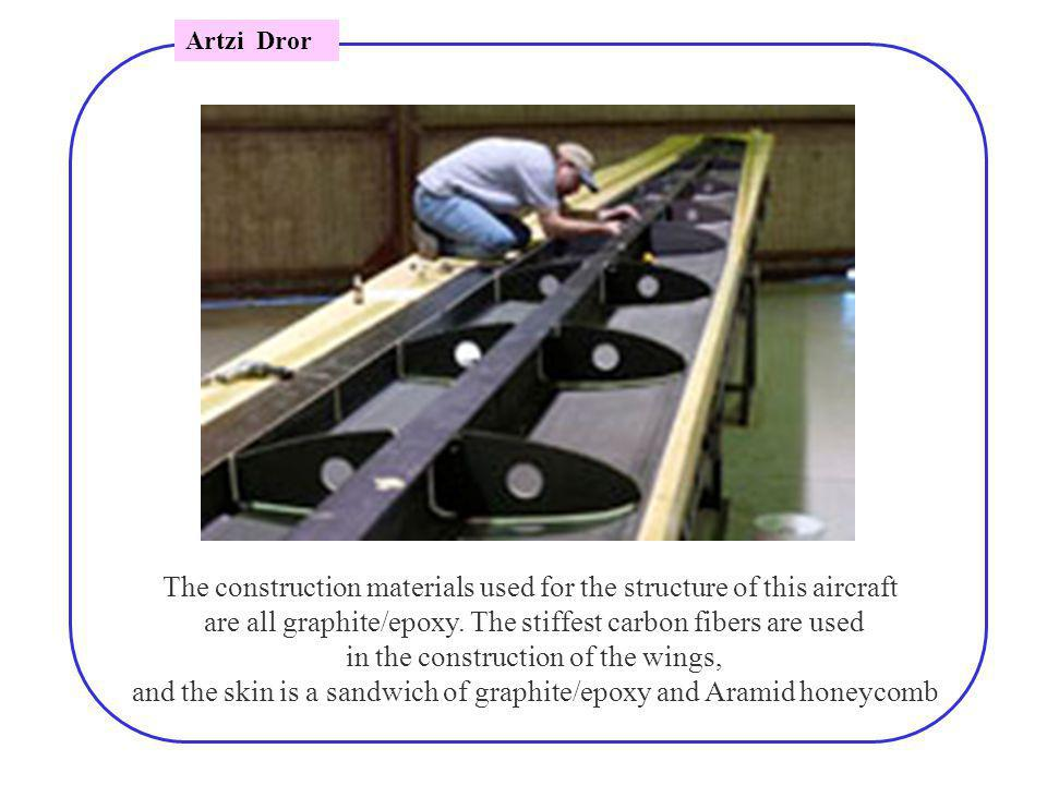 The construction materials used for the structure of this aircraft are all graphite/epoxy.