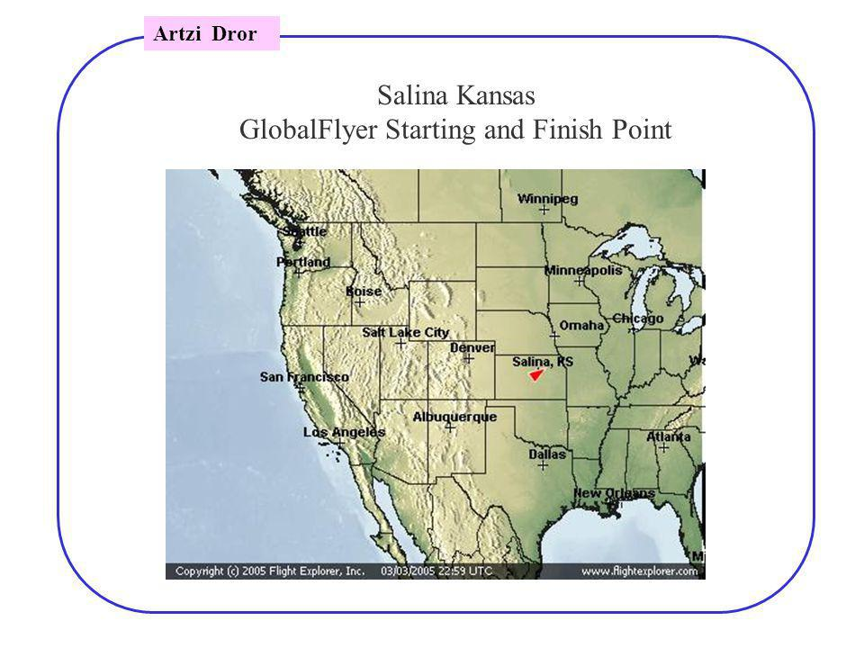 Salina Kansas GlobalFlyer Starting and Finish Point