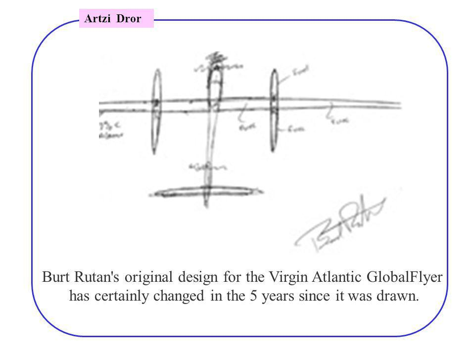 Burt Rutan s original design for the Virgin Atlantic GlobalFlyer has certainly changed in the 5 years since it was drawn.