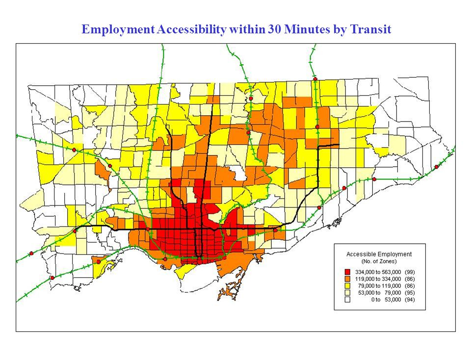 Employment Accessibility within 30 Minutes by Transit