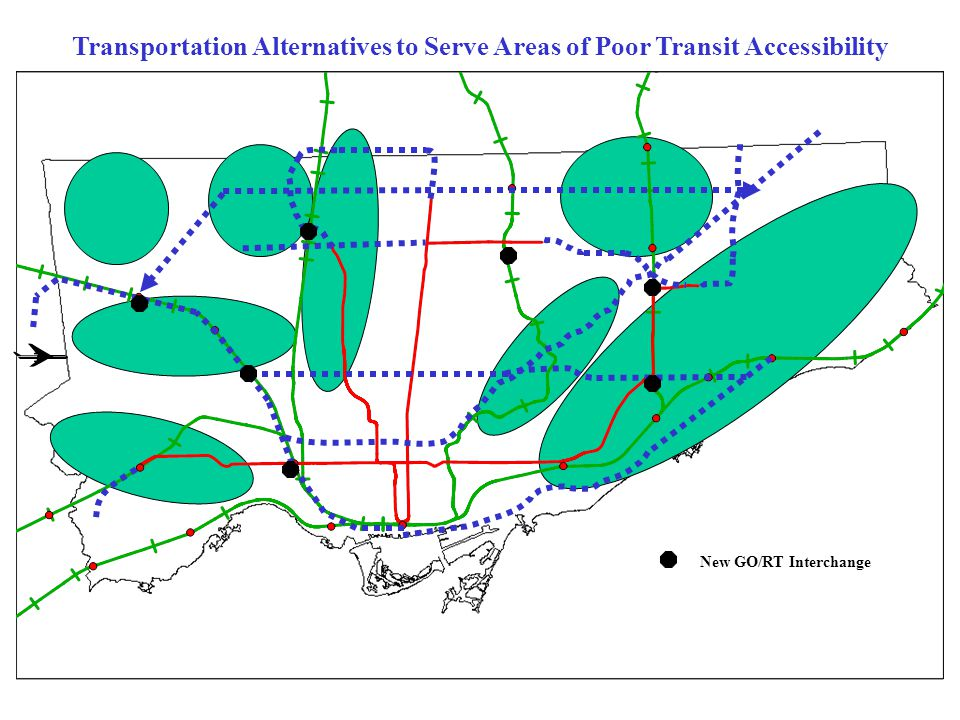 Transportation Alternatives to Serve Areas of Poor Transit Accessibility New GO/RT Interchange