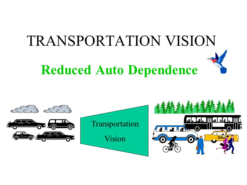 TRANSPORTATION VISION Reduced Auto Dependence Transportation Vision