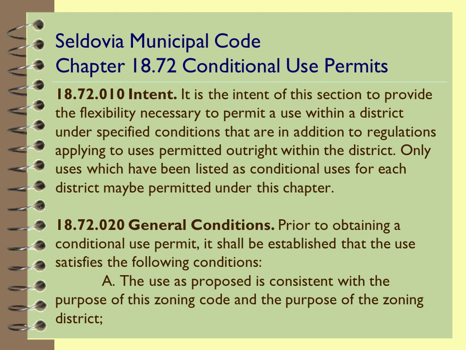 What is a Conditional Use Permit.