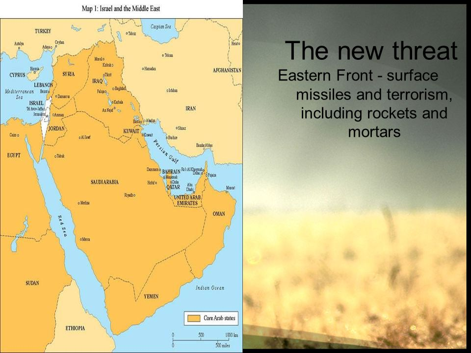 The new threat Eastern Front - surface missiles and terrorism, including rockets and mortars