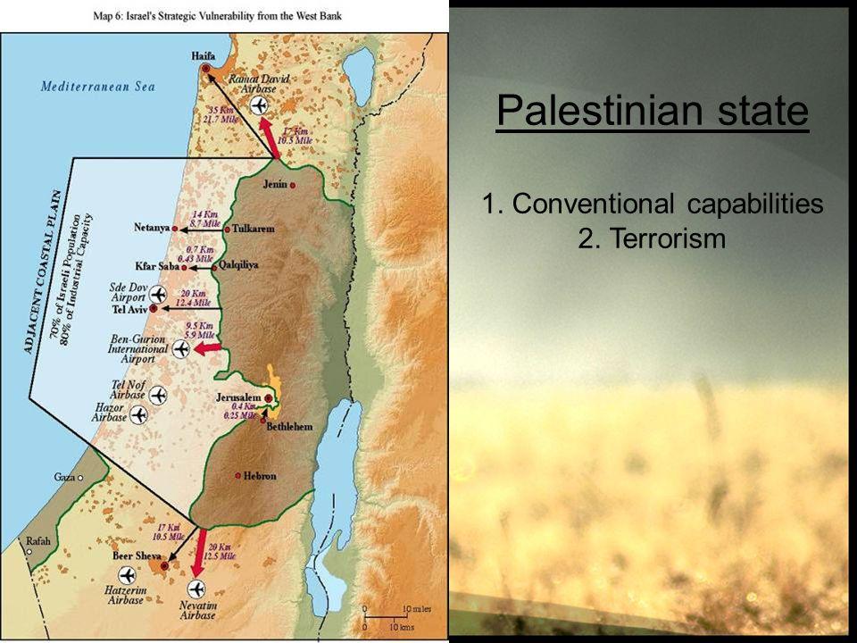 Palestinian state 1. Conventional capabilities 2. Terrorism