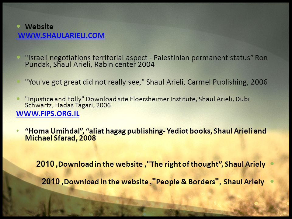 Website WWW.SHAULARIELI.COM