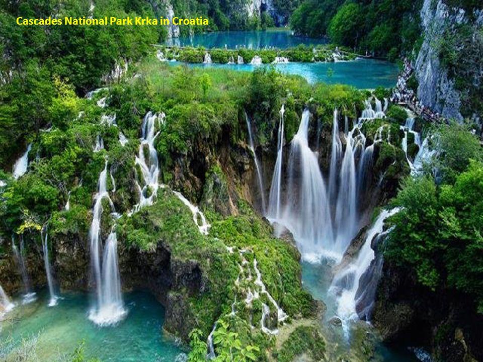 Cascades National Park Krka in Croatia
