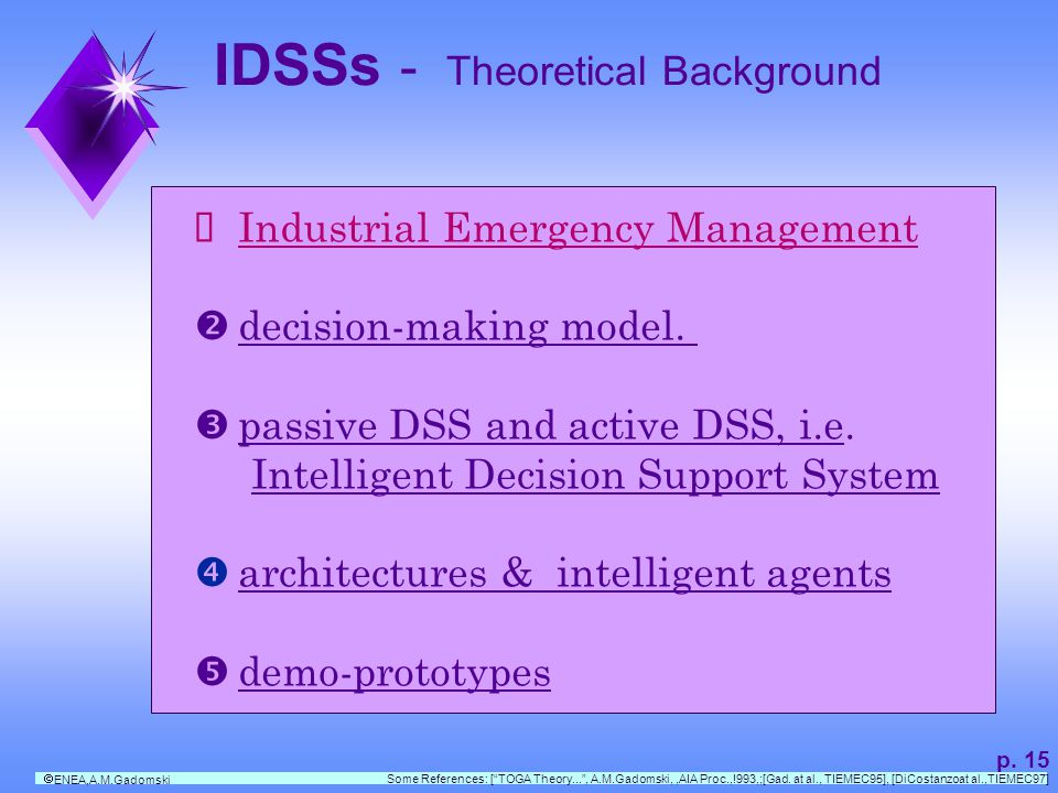 IDSSs - Theoretical Background p.