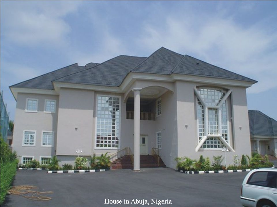 Row houses in Nigeria