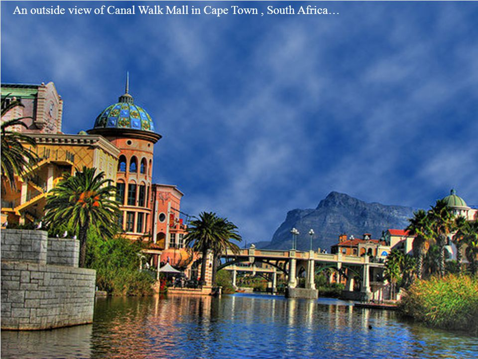 Another inside view of Canal Walk Mall in Cape Town, South Africa..