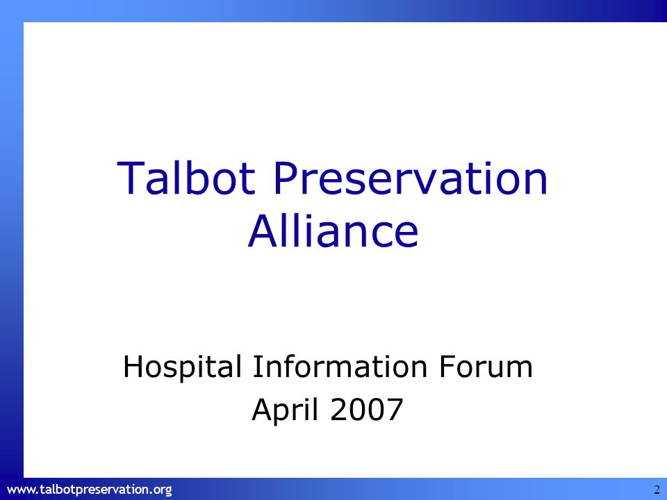 www.talbotpreservation.org 13 Drug stores/pharmacies Labs Assisted living facilities Emergency response services Ambulatory rehab services Food services Professional services providers Restaurants/eateries Eye care Florists Economics: Impact on Local Businesses