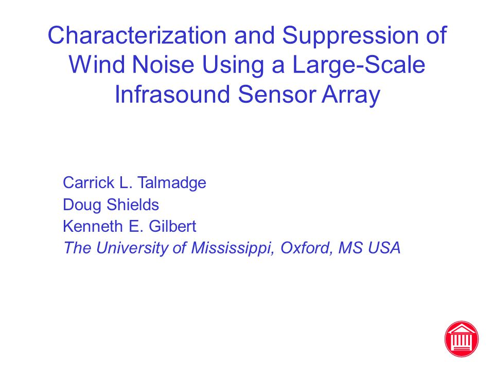 Characterization and Suppression of Wind Noise Using a Large-Scale Infrasound Sensor Array Carrick L.