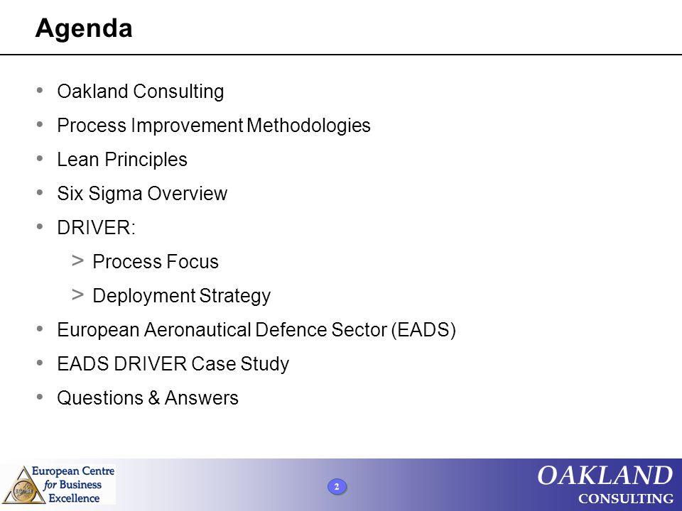 DRIVER Project Checklist © Oakland Consulting Plc.