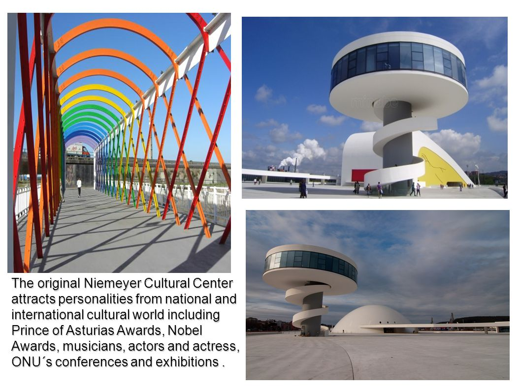 The original Niemeyer Cultural Center attracts personalities from national and international cultural world including Prince of Asturias Awards, Nobel
