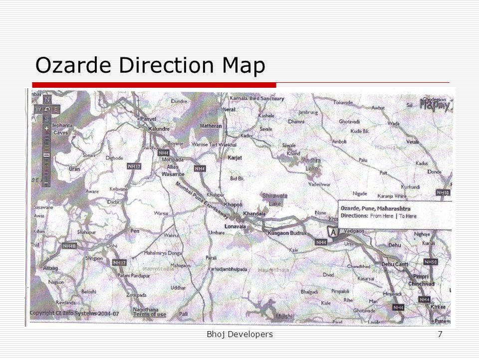 Bhoj Developers7 Ozarde Direction Map