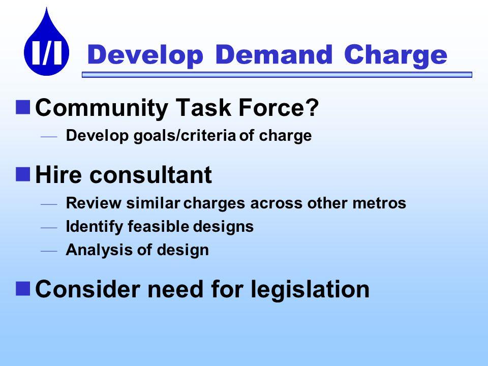 I/I Develop Demand Charge Community Task Force.