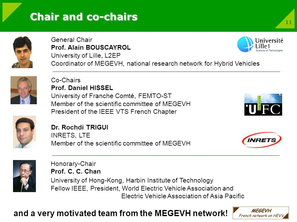 11 General Chair Prof.