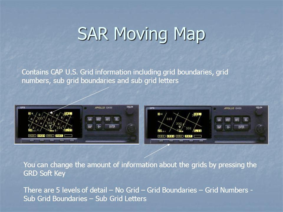 SAR Moving Map Contains CAP U.S.