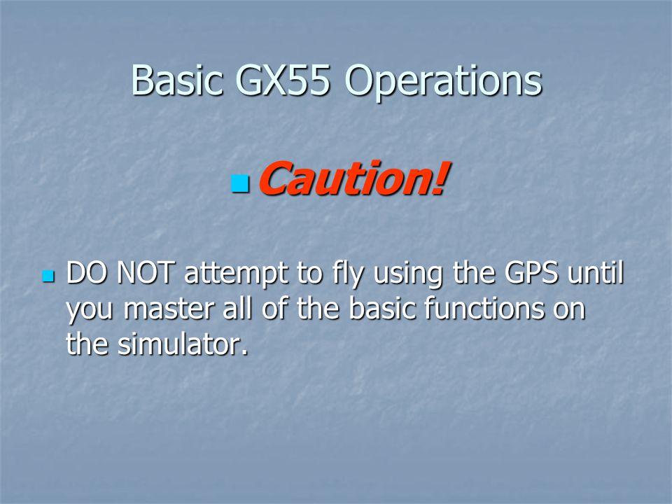 Basic GX55 Operations Caution.Caution.