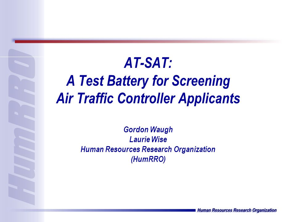 Air Traffic Scenarios Test