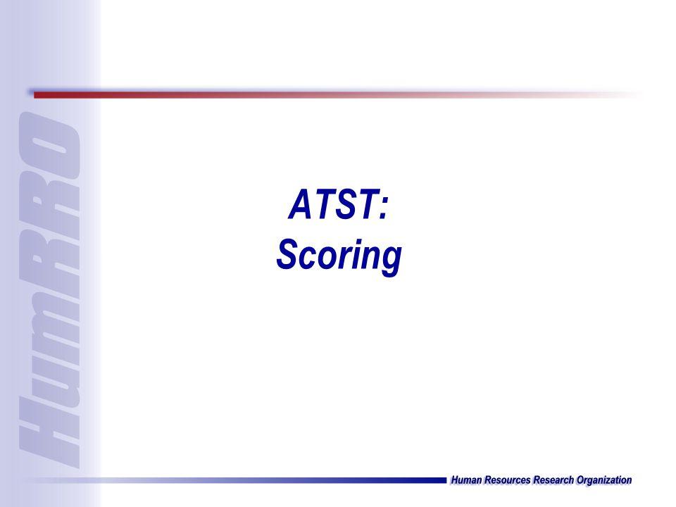 ATST: Scoring