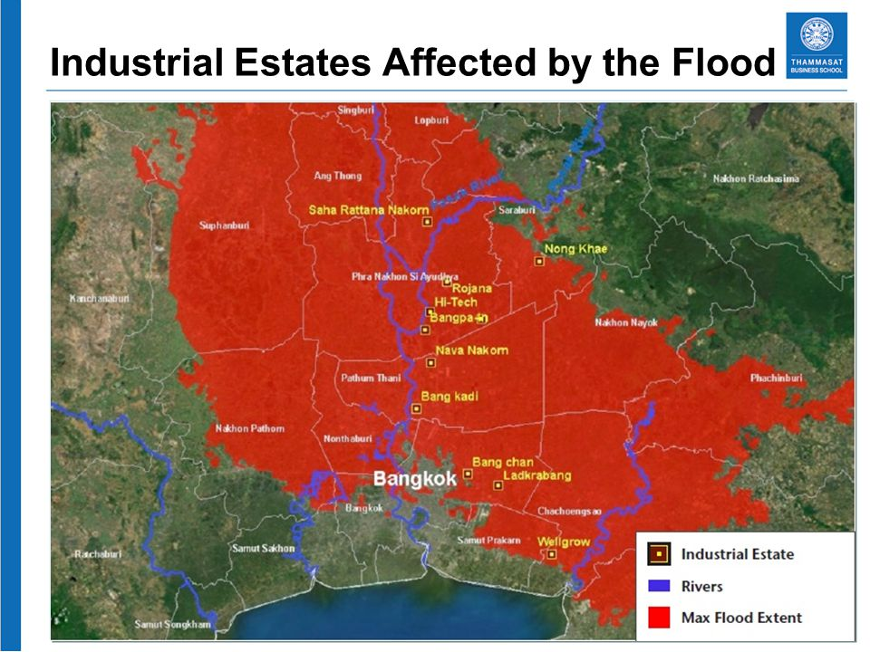 Industrial Estates Affected by the Flood