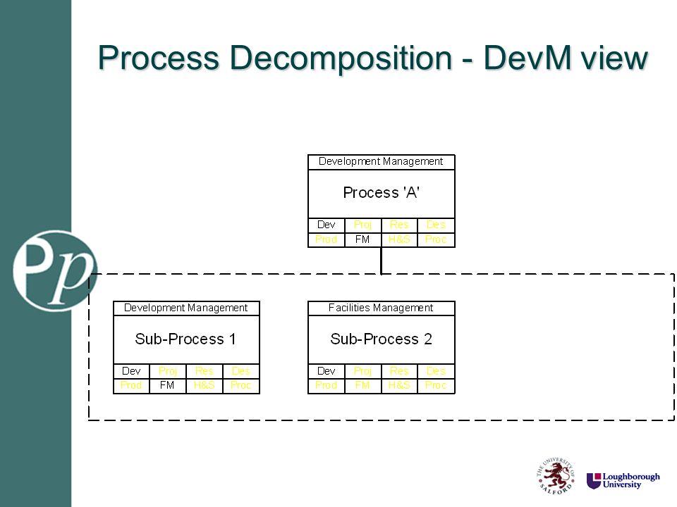 Process Decomposition - DevM view