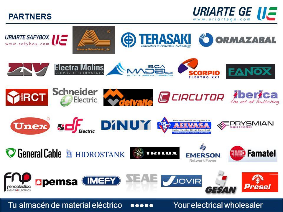 Tu almacén de material eléctricoYour electrical wholesaler PARTNERS Tu almacén de material eléctrico Your electrical wholesaler.