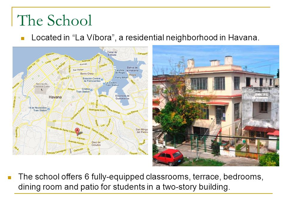 The School Estudio Sampere Cuba offers students: Estudio Samperes ambiance and professionalism.