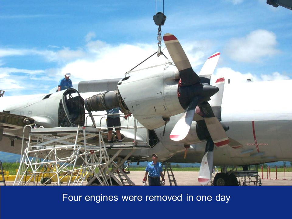 I n t e g r i t y - S e r v i c e - E x c e l l e n c e As of:19 Four engines were removed in one day