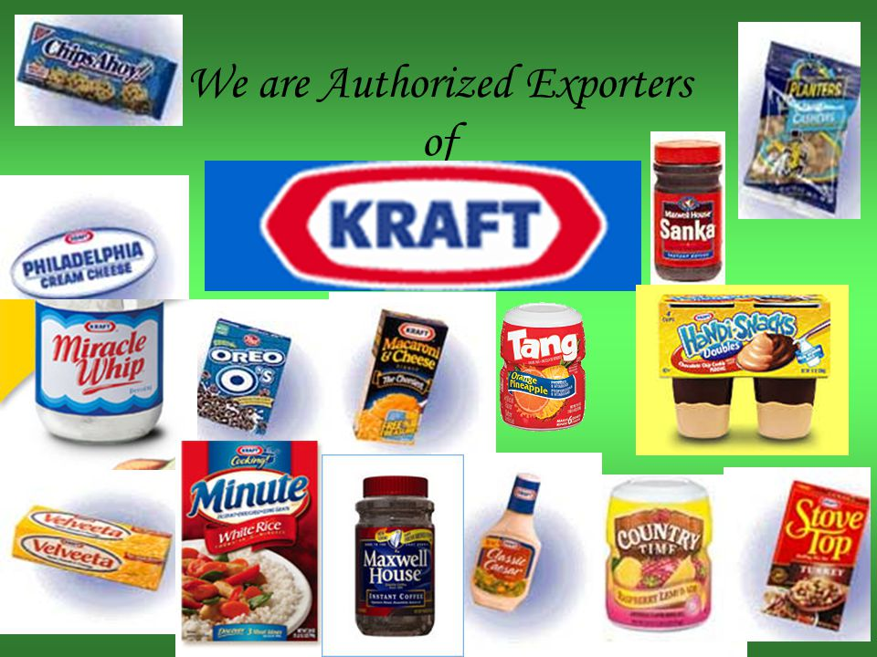 We are Authorized Exporters of Hersheys Chocolate