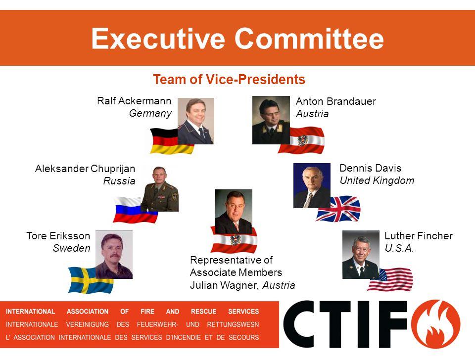 Executive Committee Dennis Davis United Kingdom Anton Brandauer Austria Aleksander Chuprijan Russia Team of Vice-Presidents Tore Eriksson Sweden Repre