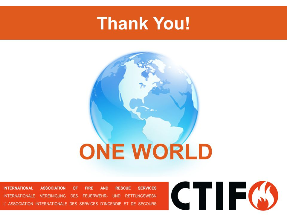 ONE WORLD Thank You!
