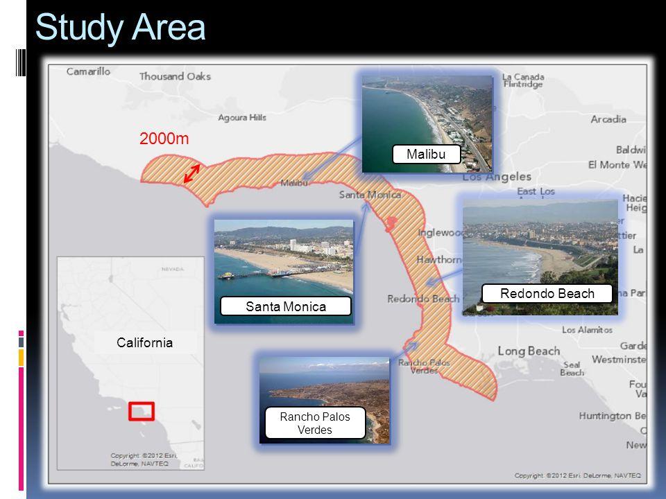 Study Area California 2000m Malibu Santa Monica Redondo Beach Rancho Palos Verdes
