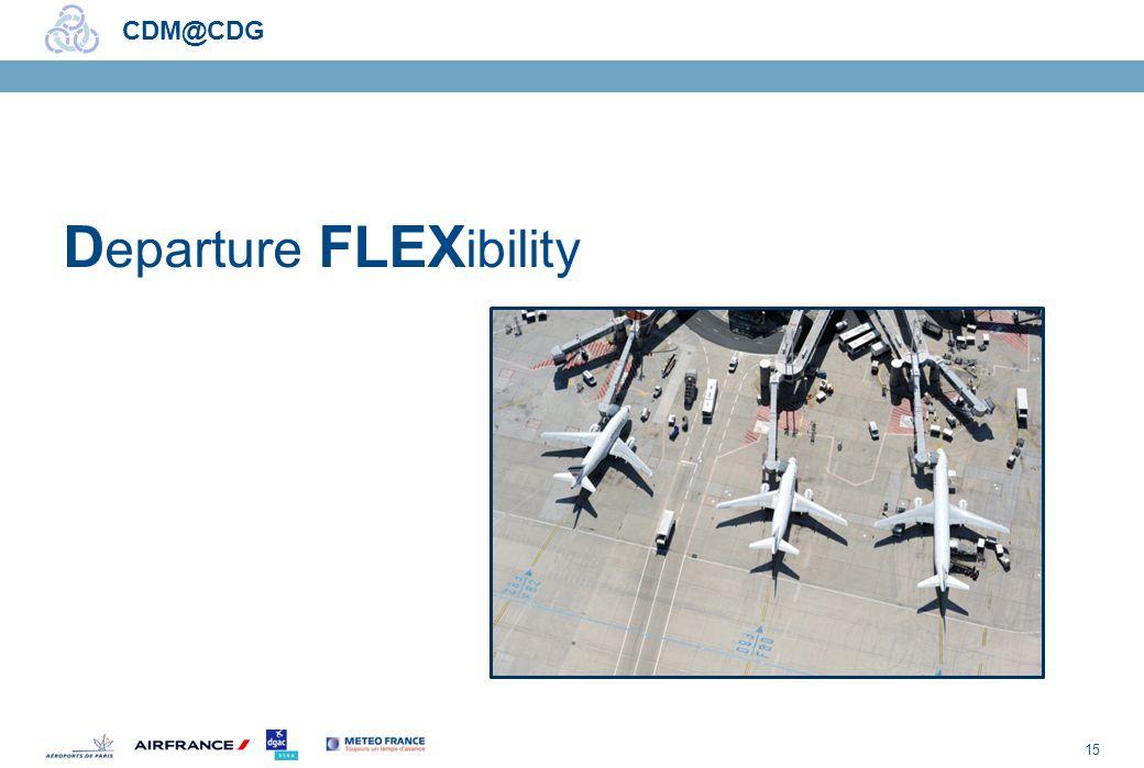 15 CDM@CDG D eparture FLEX ibility