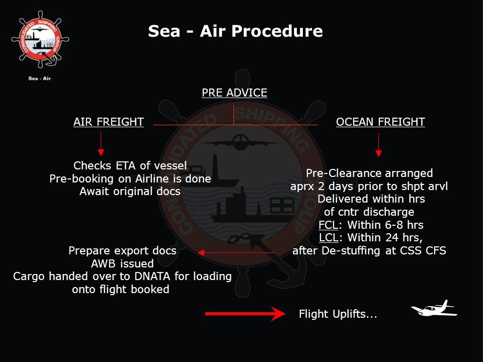 AIR FREIGHTOCEAN FREIGHT Flight Uplifts...
