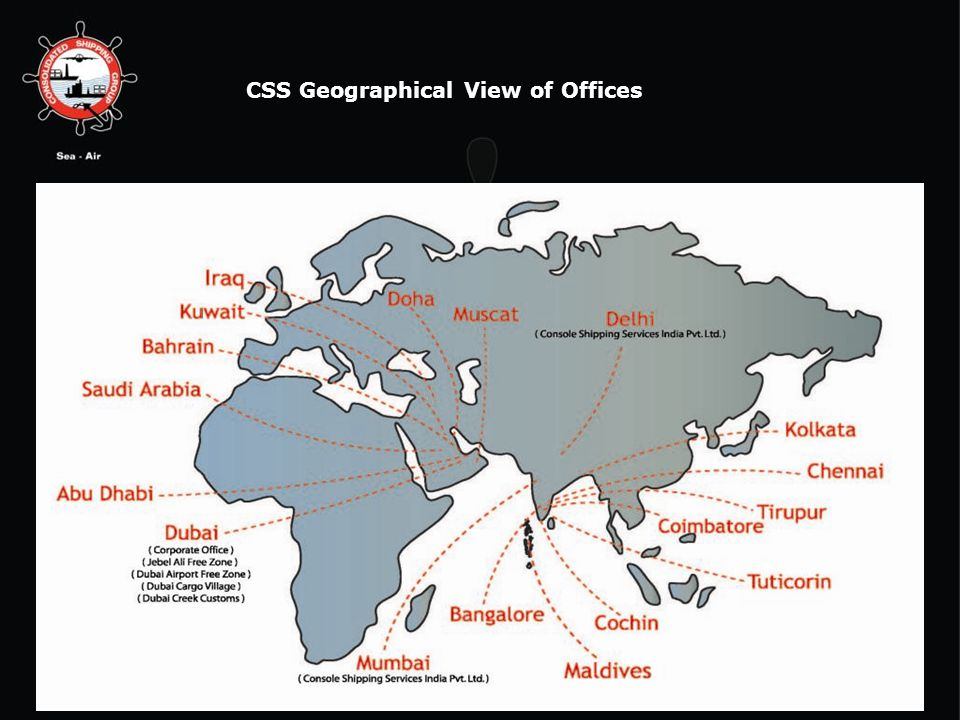 CSS Geographical View of Offices 6/13/2014 4