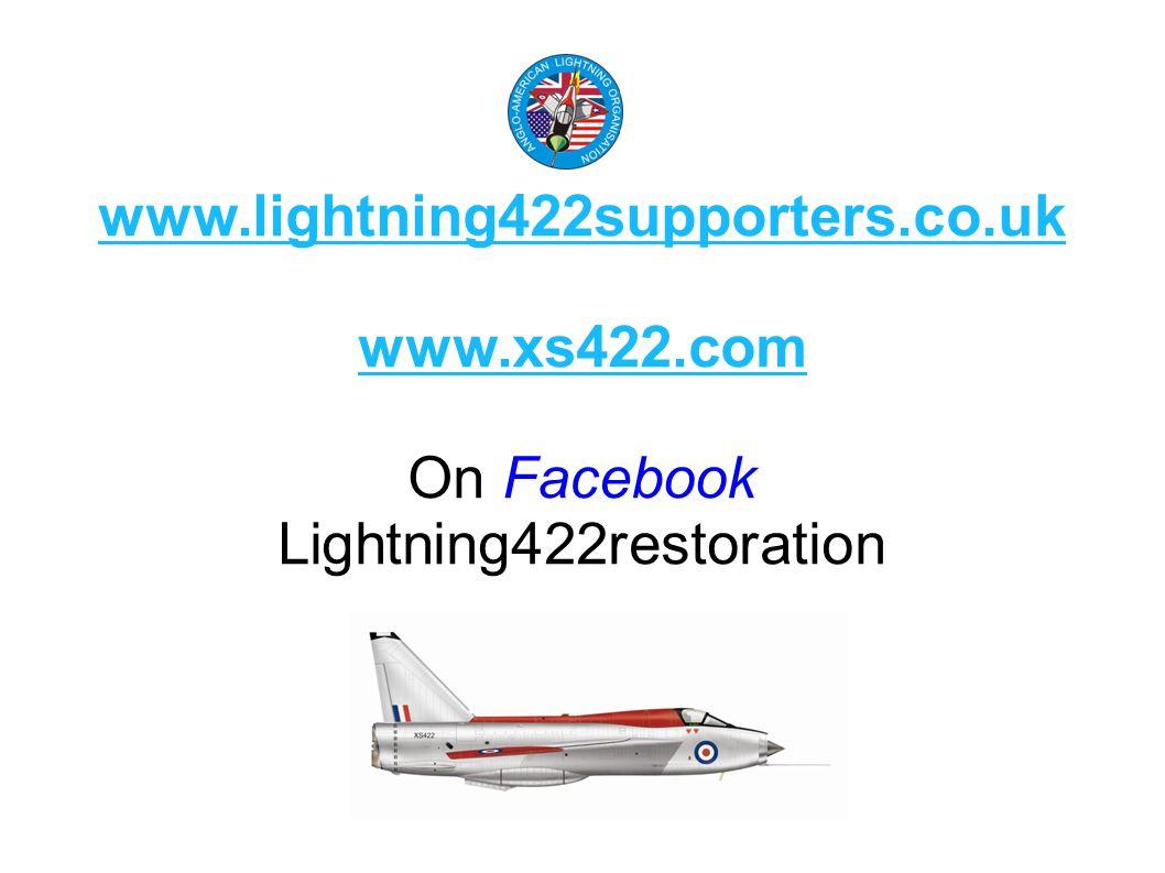 www.lightning422supporters.co.uk www.xs422.com On Facebook Lightning422restoration