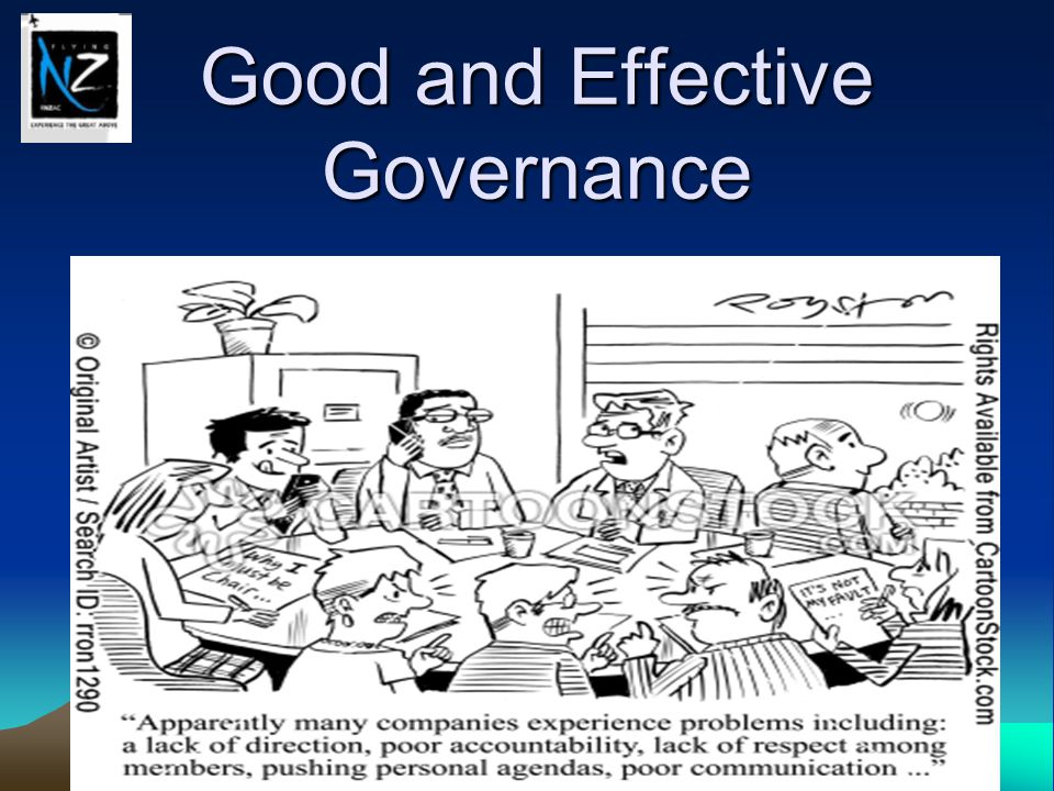 Good and Effective Governance