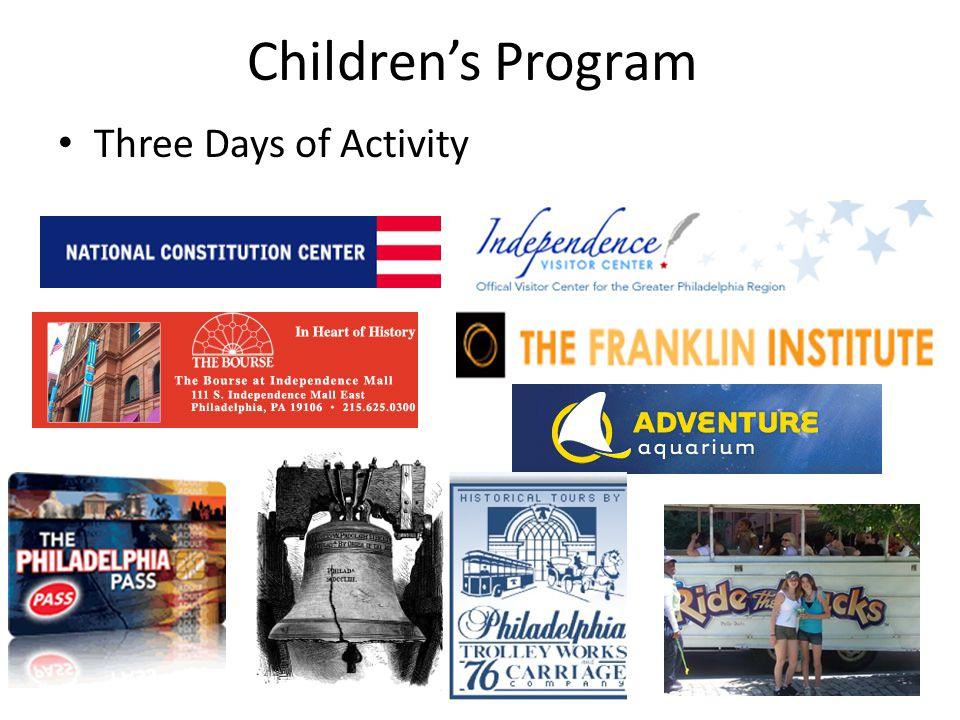 Childrens Program Three Days of Activity