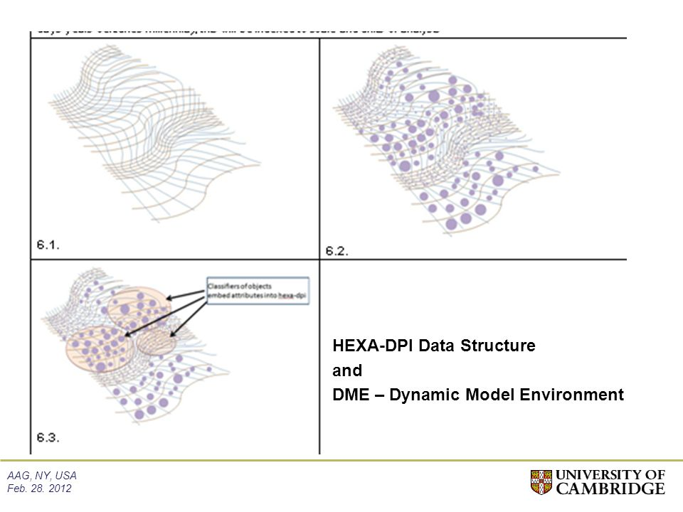 AAG, NY, USA Feb. 28. 2012 HEXA-DPI Data Structure and DME – Dynamic Model Environment