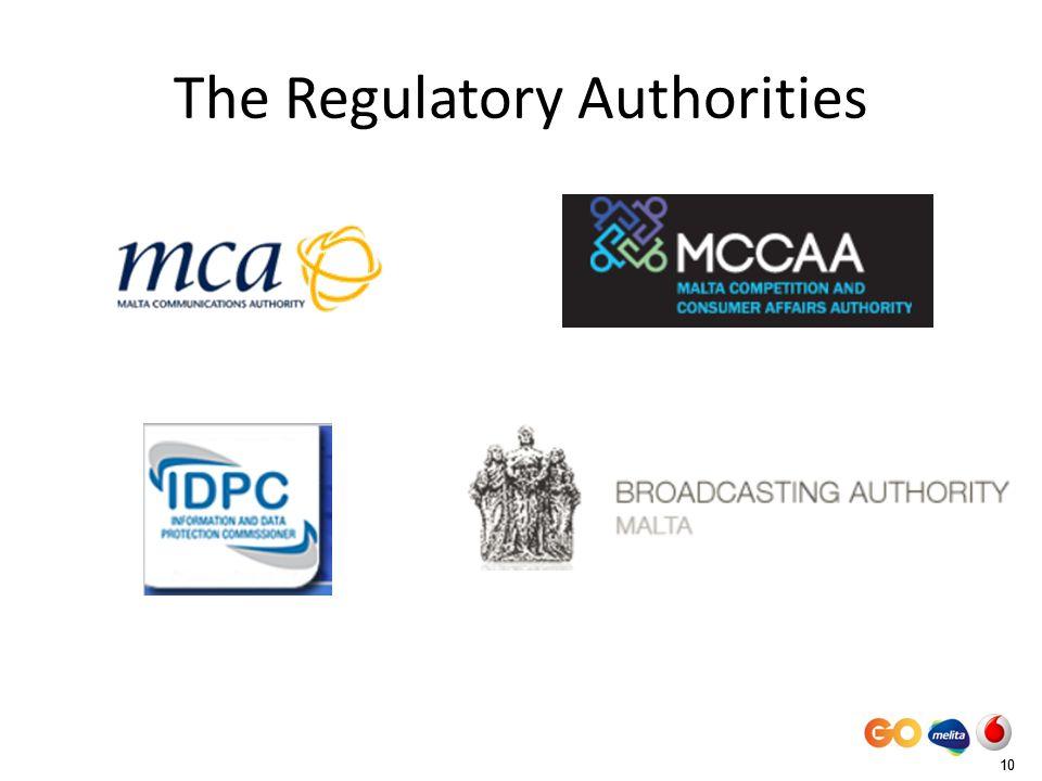 10 The Regulatory Authorities