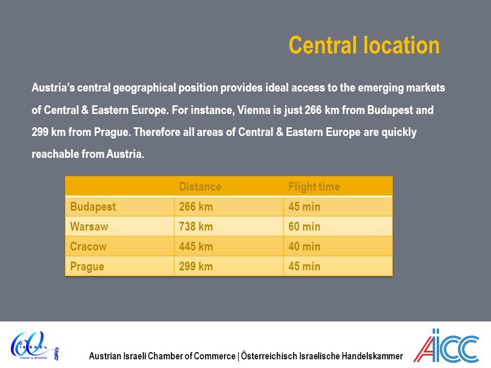 Austrian Israeli Chamber of Commerce | Österreichisch Israelische Handelskammer Central location Austrias central geographical position provides ideal