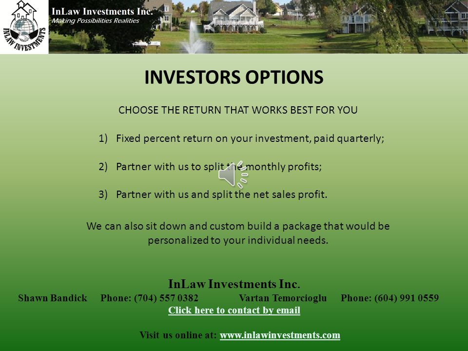 InLaw Investments Inc.