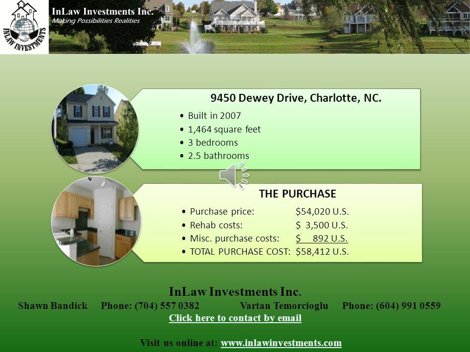 9450 Dewey Drive, Charlotte, NC.